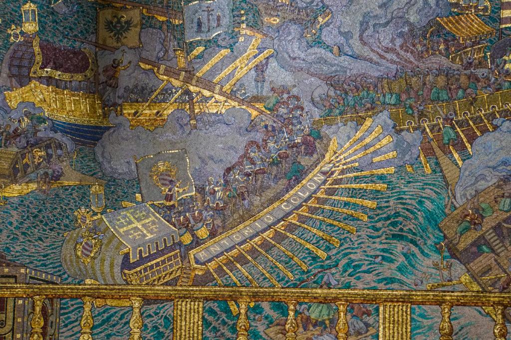 リヨンのノートルダム大聖堂にあるモザイク
